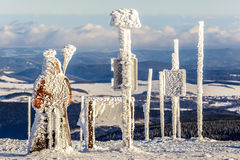 Alpi Austria di inverno Immagini Stock