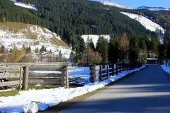 Alpi Austria di inverno Fotografie Stock Libere da Diritti