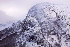 Alpi austriache al crepuscolo nell'inverno Fotografia Stock Libera da Diritti