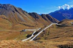 Alpi austriache in autum iniziale Fotografia Stock