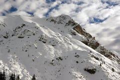 Alpi austriache. Belle montagne nevose Fotografie Stock Libere da Diritti