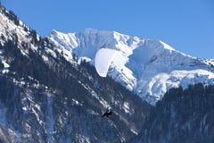 Alpi austriache, catena montuosa coperta nella neve, inverno Fotografie Stock Libere da Diritti