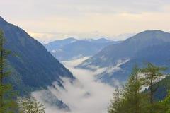 Alpi austriache del parco nazionale di Hohe Tauern Fotografia Stock Libera da Diritti