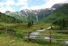 Alpi austriache in estate Fotografie Stock Libere da Diritti