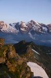 Alpi austriache, Grossglockner ad alba Fotografie Stock Libere da Diritti
