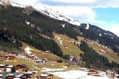 Alpi austriache intorno a Tux Fotografie Stock