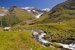 Alpi austriache in Kaunertal Tirolo Fotografia Stock