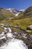 Alpi austriache in Kaunertal Tirolo Fotografie Stock Libere da Diritti