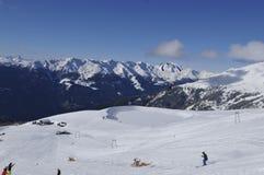Alpi austriache: La regione degli sport invernali nella città di Lienz in Tir orientale immagine stock