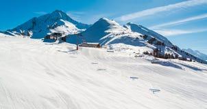 Alpi austriache nell'inverno Fotografie Stock Libere da Diritti