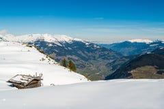Alpi austriache nell'inverno Fotografia Stock Libera da Diritti
