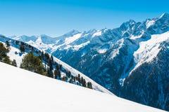 Alpi austriache nell'inverno Immagini Stock