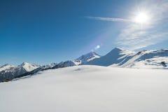 Alpi austriache nell'inverno Immagine Stock