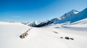 Alpi austriache nell'inverno Fotografie Stock