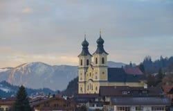 Alpi austriache nell'inverno Immagini Stock Libere da Diritti