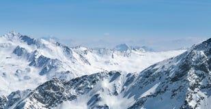 Alpi austriache nell'inverno, Austria Fotografia Stock