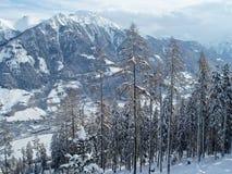 Alpi austriache nella neve Immagine Stock Libera da Diritti