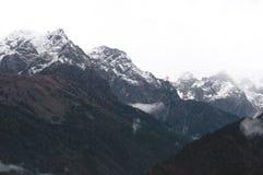 Alpi austriache nella sera di autunno Immagini Stock