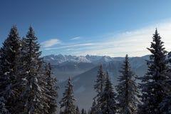 Alpi austriache. Saalbach Fotografia Stock Libera da Diritti