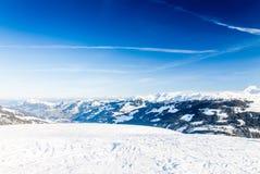 Alpi austriache vicino a Kitzbuehel Fotografie Stock Libere da Diritti