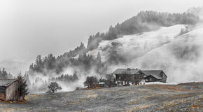 Alpi austriache vicino a Kitzbuehel Immagine Stock