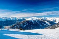 Alpi austriache vicino a Kitzbuehel Fotografie Stock