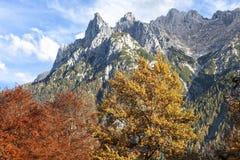 Alpi in autunno Fotografie Stock Libere da Diritti