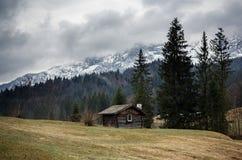 Alpi bavaresi durante il giorno nuvoloso Fotografie Stock Libere da Diritti