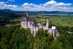 Alpi bavaresi Germania del castello del Neuschwanstein Fotografia Stock Libera da Diritti