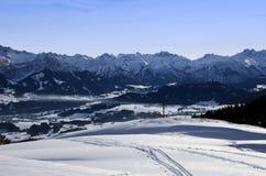 Alpi bavaresi in inverno Fotografia Stock Libera da Diritti