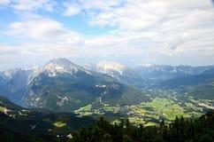 Alpi bavaresi, vicino al ` s Eagle di Hitler del porto di Nido-Adolf Hitler fotografie stock libere da diritti