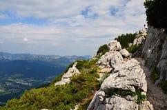 Alpi bavaresi, vicino al ` s Eagle di Hitler del porto di Nido-Adolf Hitler fotografia stock libera da diritti