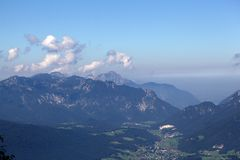 Alpi bavaresi vicino a Berchtesgaden Fotografie Stock Libere da Diritti