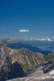 Alpi bavaresi. Vista da Zugspitze Fotografie Stock