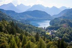 Alpi in Baviera Immagini Stock