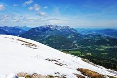 Alpi in Baviera Fotografia Stock