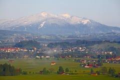 Alpi in Baviera, Germania Fotografia Stock