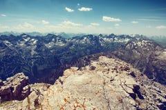 Alpi catena montuosa e Rocky Outcrop di Allgau Fotografia Stock Libera da Diritti
