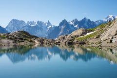 Alpi a Chamonix-Mont-Blanc Fotografia Stock