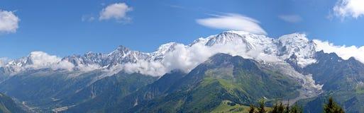 Alpi Chamonix-Mont-Blanc Fotografia Stock Libera da Diritti