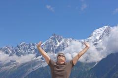 Alpi Chamonix-Mont-Blanc Fotografie Stock Libere da Diritti