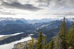 Alpi con il lago Immagine Stock