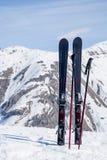 alpi Corsa con gli sci della montagna in cima alle alpi italiane Immagine Stock Libera da Diritti