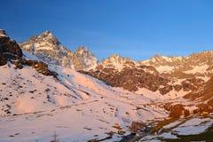 Alpi d'ardore Immagine Stock Libera da Diritti