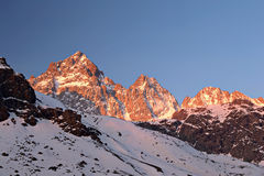 Alpi d'ardore Fotografie Stock