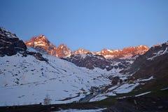 Alpi d'ardore Immagini Stock Libere da Diritti