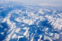 Alpi da sopra Immagine Stock