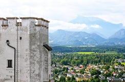 Alpi dal castello Immagini Stock