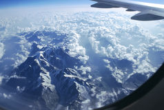 Alpi dal cielo Fotografia Stock Libera da Diritti