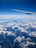 Alpi dal cielo 2 Fotografia Stock Libera da Diritti